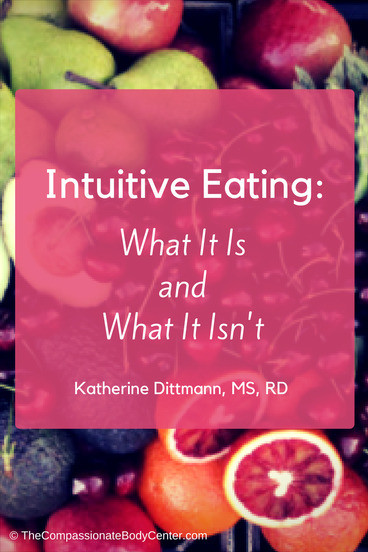 Intuitive Eating: What It Is and What It Isn't / Does Intuitive Eating sound compelling, but you aren't quite sure where to start? Click through to my post (with freebies!)
