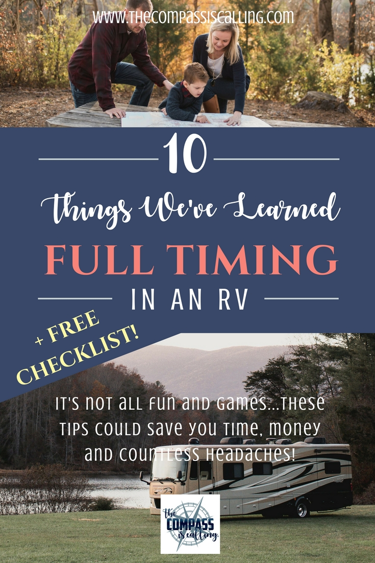 10 Things We've Learned While Full Timing in Our Motorhome