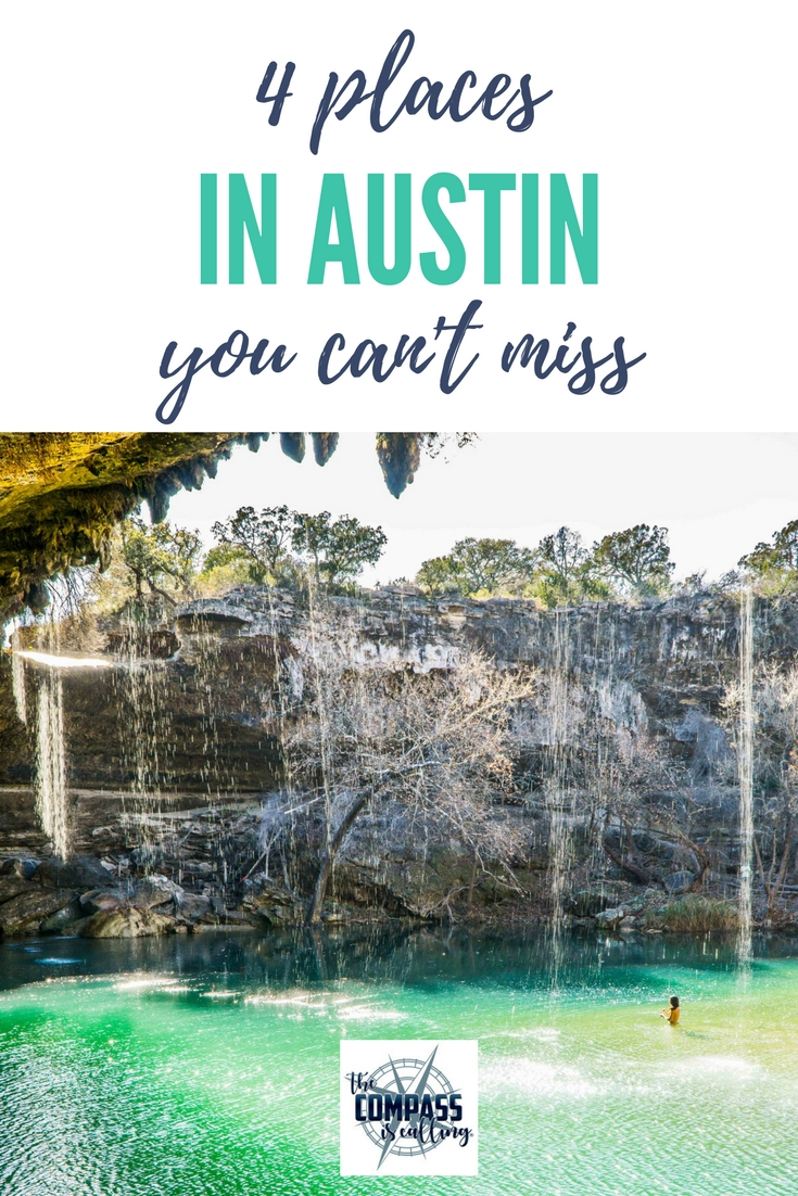 4 Places You Can't Miss in Austin & Texas Hill Country - Street Art, Murals, Thinkery, Hamilton Pool Preserve, Jacob's Well. If you want to visit this area of Texas - don't skip these places! #austin #texashillcountry #texas