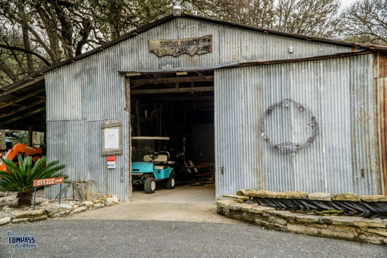 The office at Spring Branch RV Park is located in the barn.