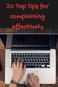 Top 20 tips for complaining