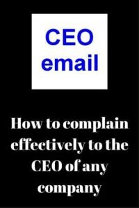 how to contact CEO