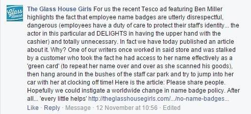 Complaints about Tesco