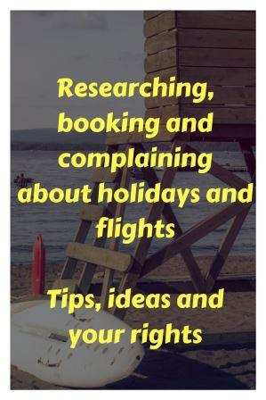 """Look out timber frame on a beach """"researching, booking and complaining aabout holidays and flights. Tips, ideas and your rights"""""""