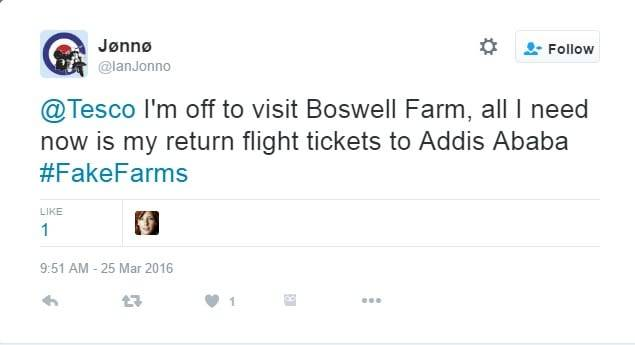 Fake farm Tesco post by The Complaining Cow