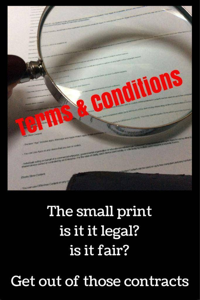 terms and conditions your rights, unfair contract challenger them