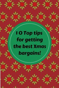 10 top tips for getting the best Xmas bargains! on Xmas paper background