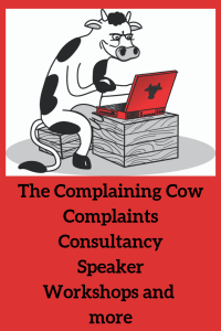 The Complaining Cow logo complaints, consultancy, speaker and more