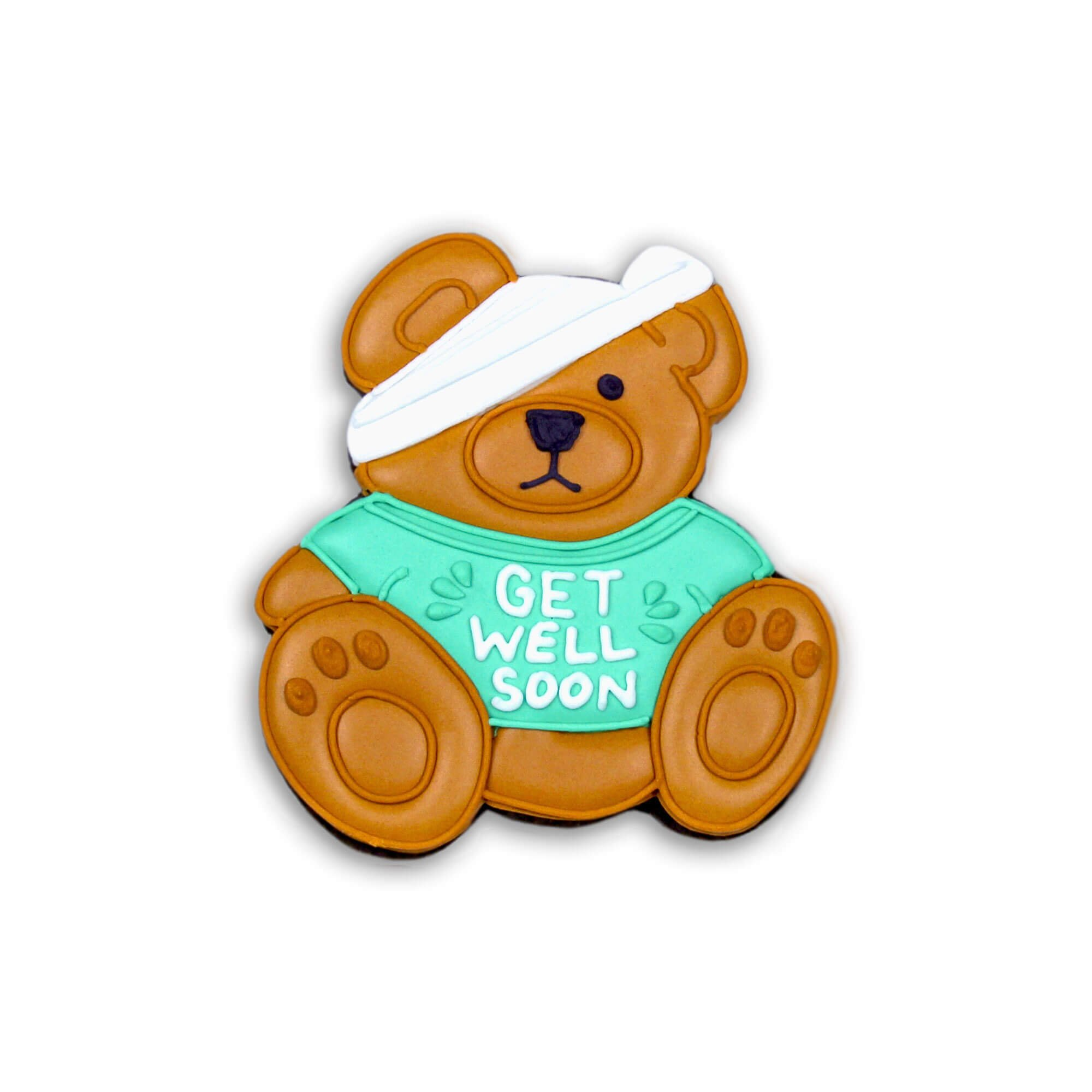 Get Well Bear Biscuit Individual