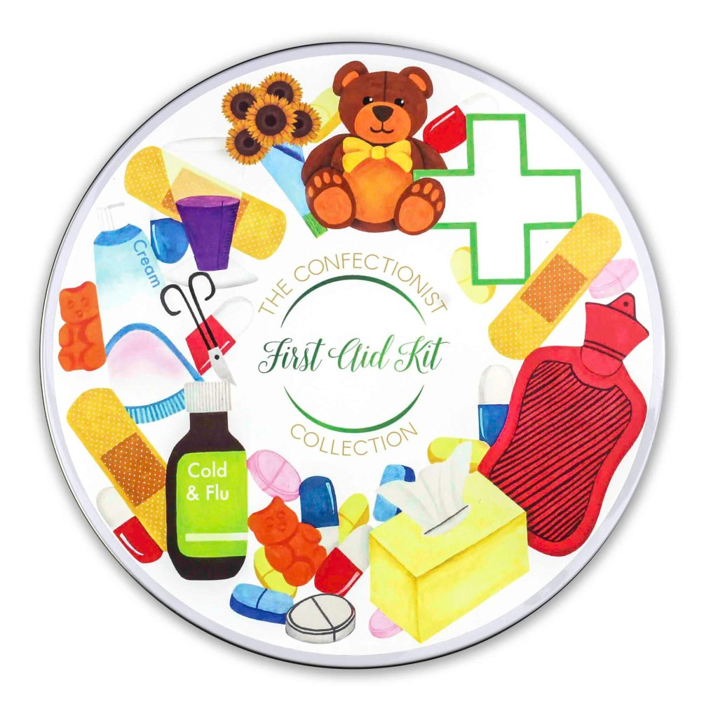 First Aid Biscuit Collection Tin Lid
