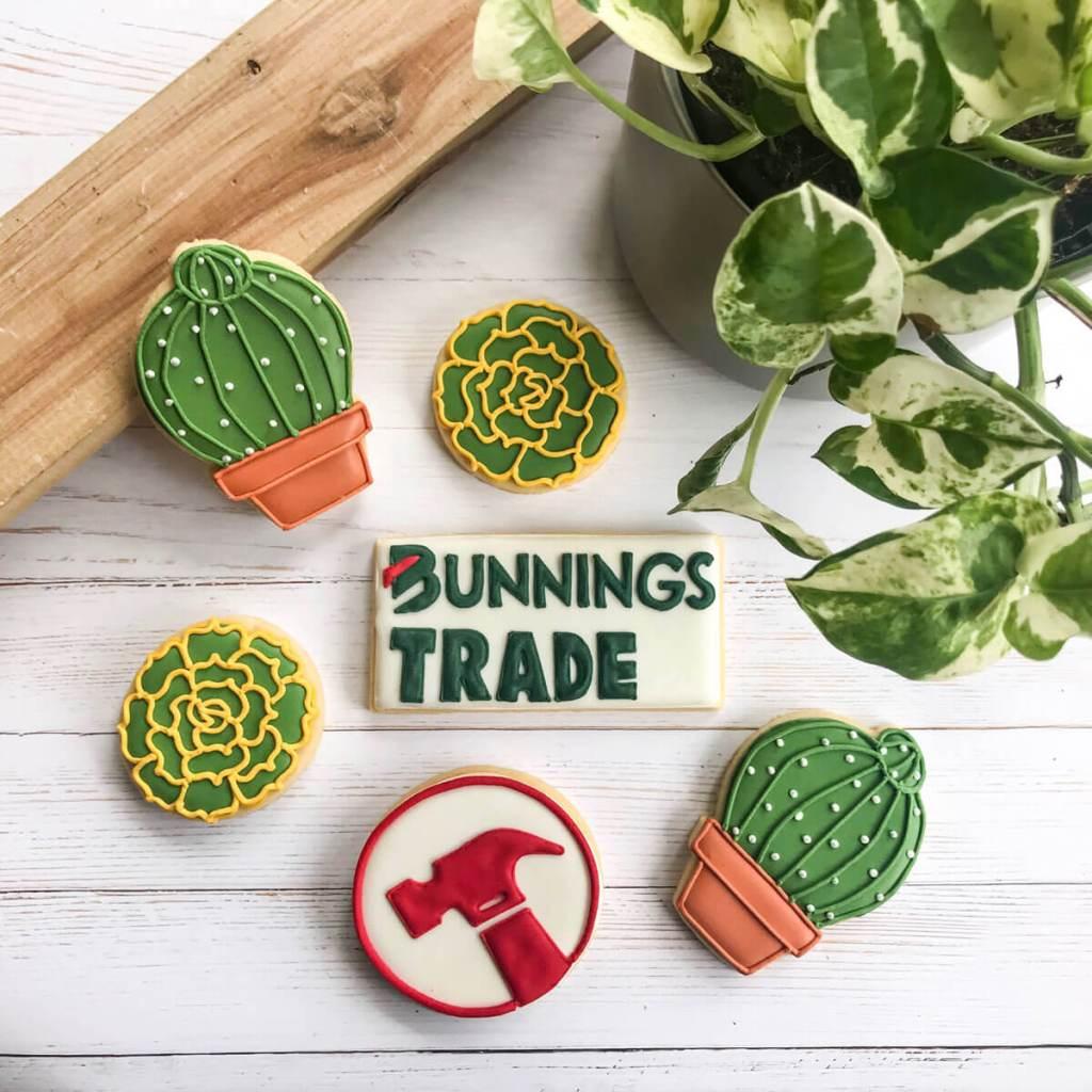 bunning logo cookies