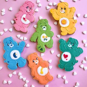 colourful bears custom biscuits