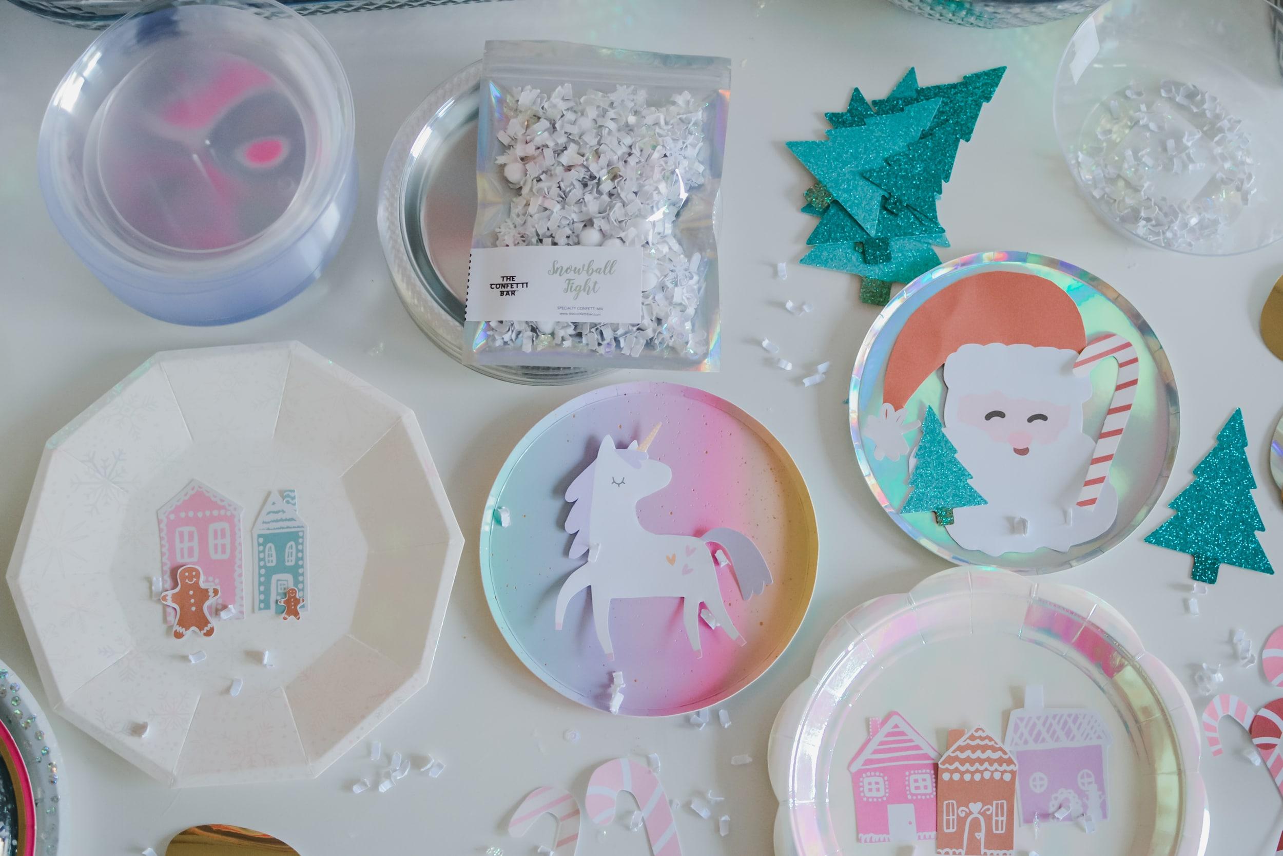 DIY Paper Plate Confetti Snowglobe Shakers