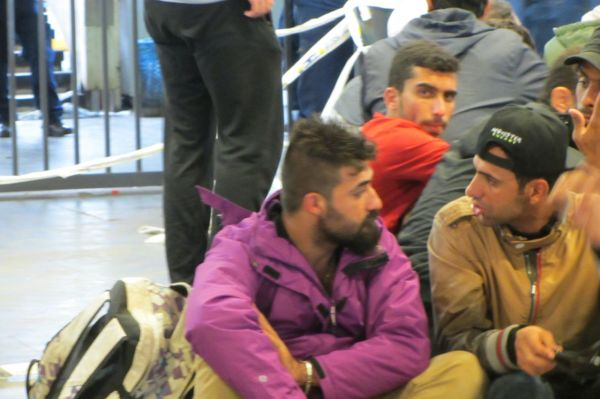 Refuges at Keleti Station