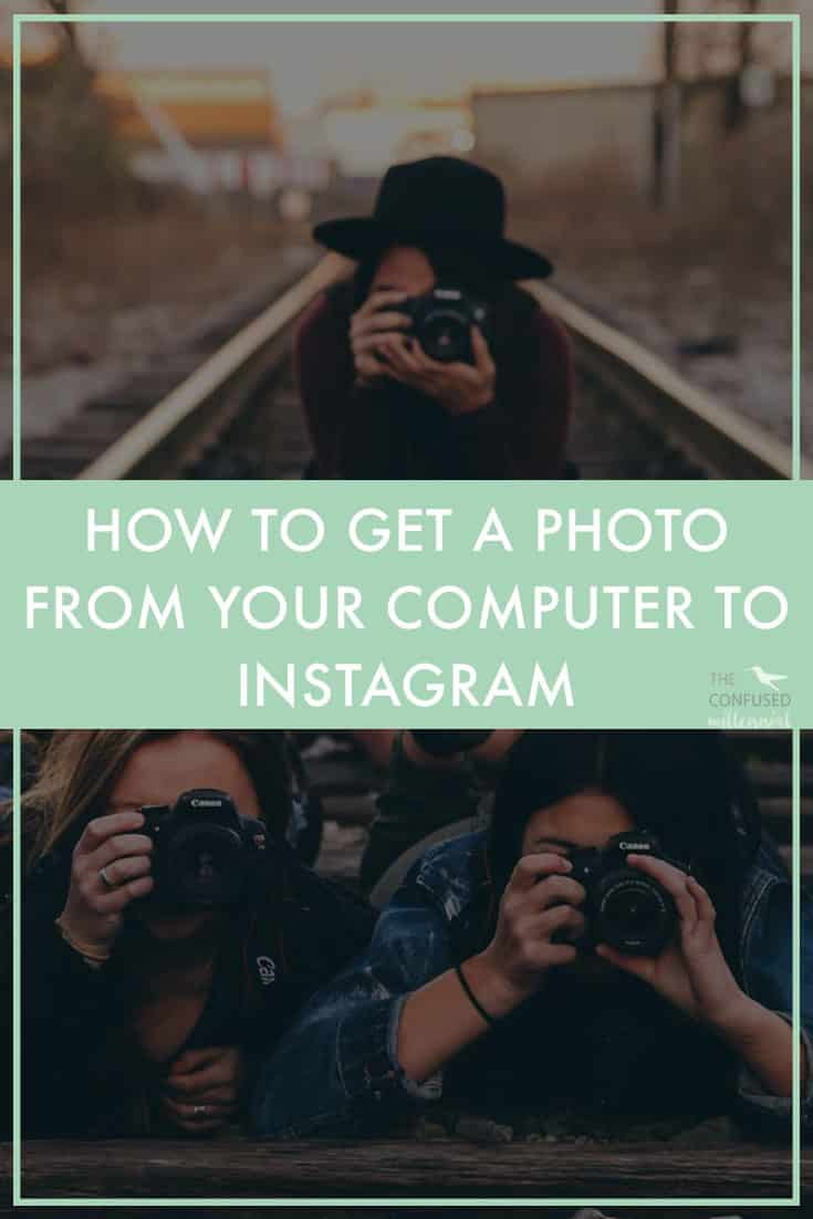 """Instagram tip:How do you get your photos or graphics from your computer to your phone to upload them on Instagram?There are a lot of ways to get your photo from your computer to Instagram! Something to keep in mind, is ideally you wouldn't email it to yourself since you will lose some resolution this way and your photo could end up looking grainy.Keep in mind that each of these require a few steps, nothing will magically zap a photo to your Instagram (even apps that say they are integrated with Instagram and will """"post to Instagram for you"""" still require you to go in and copy and push a button to get it onto Instagram at the time you want to post it due to Instagram's policies.) - The Confused Millennial"""