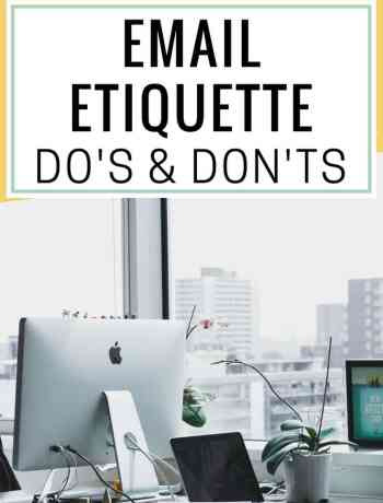email etiquette for business, email etiquette dos and donts, email etiquette tips for students