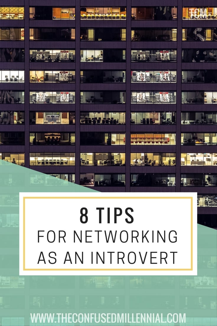 You've heard it before: when it comes to landing a job and developing your career, networking is everything. Personal connections will accelerate your professional development in a way that e-mails and ads simply can't. Networking can be a different kind of challenge for introverts since large networking events can be a bit intimidating and exhausting. There are a lot of misconceptions out there about what introverts are like. Being an introvert just means that I need time in a quiet, peaceful environment to offset the time I spend socializing. Depending on what kind of introvert you are, the amount of alone time you need might be different, but it's true that we all need it. How do you balance being a young professional who is putting yourself out into the business world and being an introvert? - The confused millennial
