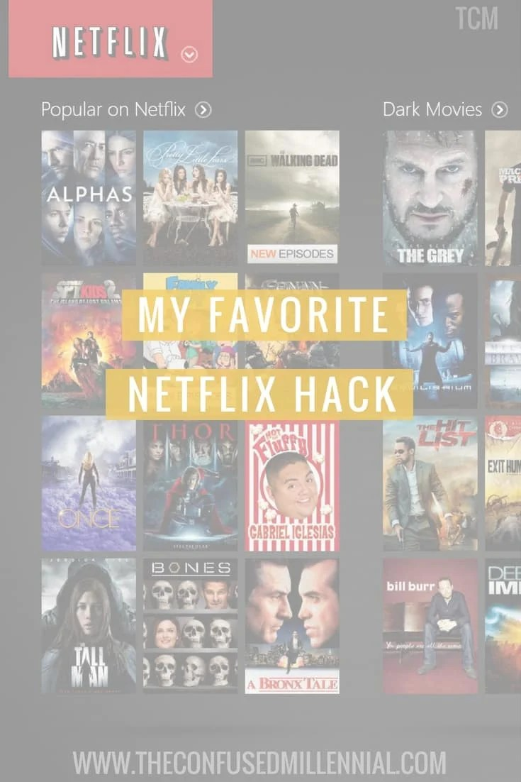 "Struggling to get through your netflix queue? Wish netflix would give better suggestions based on your mood? Life hack, read this blog post on My favorite Netflix Hack to get better suggestions and never feel ""Stuck"" or ""overwhelmed"" when trying to figure out what to binge on next. — The Confused Millennial"