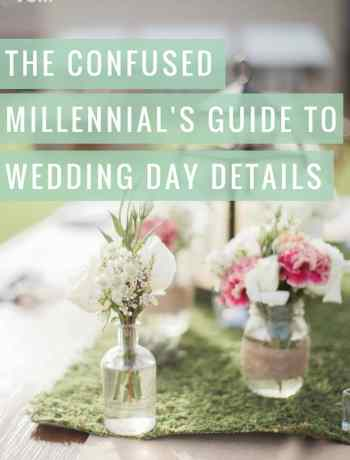 The Confused Millennial's Guide to Wedding Details rachel ritlop the confused millennial brooke images