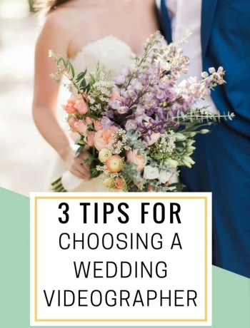 3 Tips For Choosing A Wedding Videographer plus millennial bloggers wedding video - the confused millennial