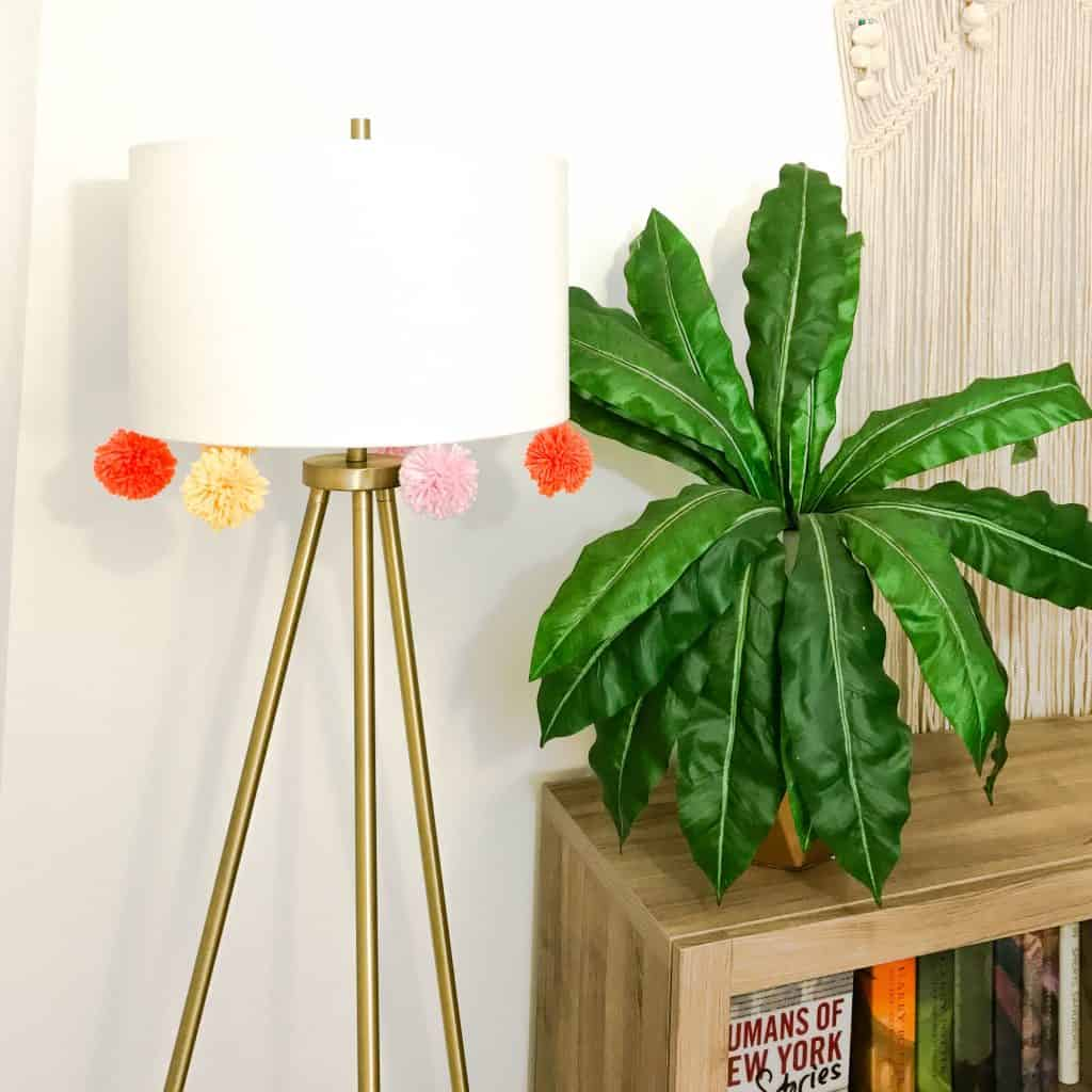 How To DIY a Pom Pom Lamp