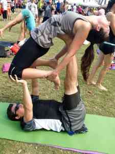 AcroYoga Action At Yoga Fest!