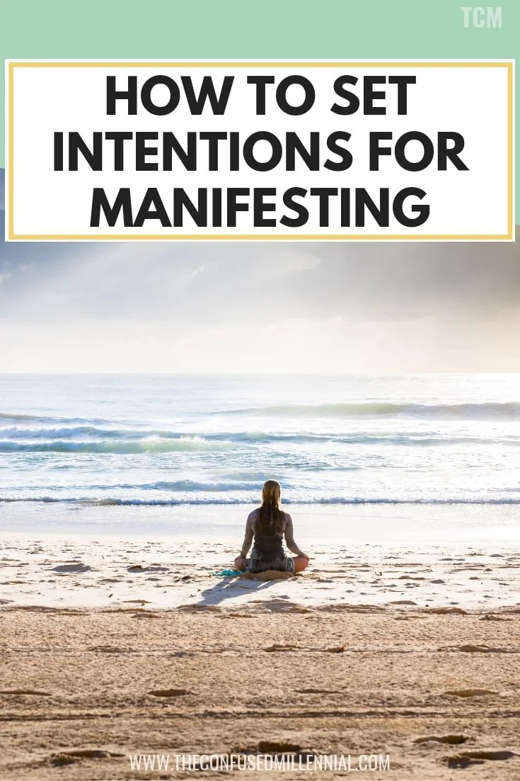 how to set intentions for manifesting, the power of intention setting vs goals at the monthly new moon, ideas for intentional living for the day to live a positive life, intention writing and affirmations for weekly mantras, #intentionsetting, #Manifesting, #manifest, #lawofattraction