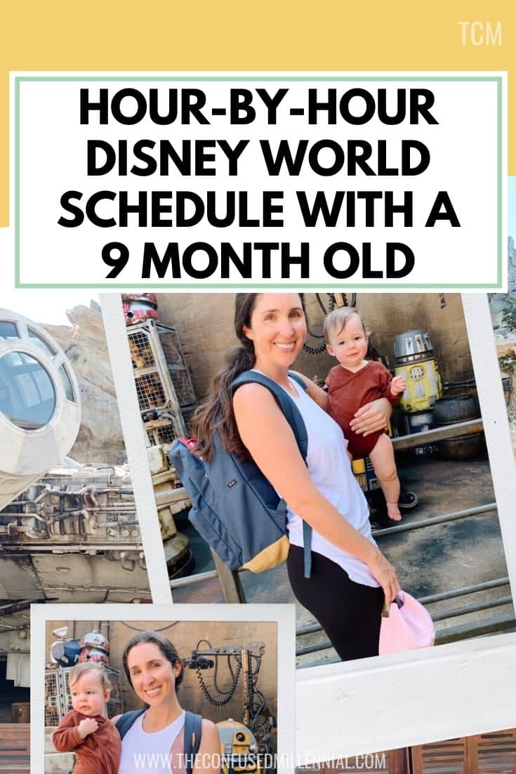 Hour-By-Hour Baby Schedule_ Disney World With A 9 Month Old, Disney World tips and tricks, planning for disney world with a baby, disney world food hacks, how to do disney's world on a budget around the holidays, secrets for navigating epcot food and wine festival, pictures of disney ears on baby, what rides we do during our halloween disney trip to orlando every year coming from south florida, our hollywood studios itinerary, #disneyworld, #waltdisneyworld, #hollywoodstudios, #epcot, #disneywithbaby, #disneyitinerary