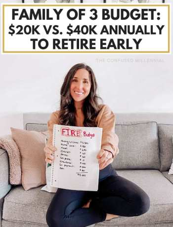 What It Would Look Like To Live On $20k vs. $40k As A Family Of 3 To Retire Early, fire movment tips, early retirement budget and what life would look like for a family of three attempting to retire early before 45, early retirement planning, financial independence, #retireearly, #familybudget, #frugalliving, #firemovement