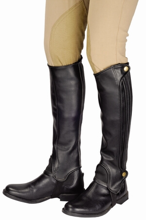 TuffRider GRIPPY GRAIN HALF CHAPS ADULTS