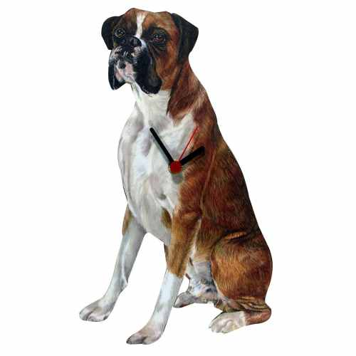 Boxer Shaped Clock Brown