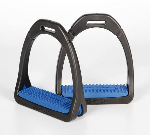 Compositi Premium Stirrups Carbon Blue
