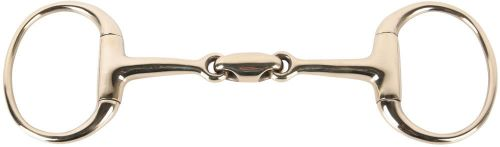 Eggbutt Gold French Mouth O-link Snaffle Bit 5.25""
