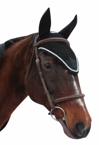 Equine Couture Fly Veil Rope Black