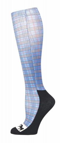 Equine Couture Padded Boot Socks Plaid Print