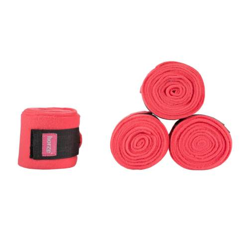 Horze Spirit Polo Wraps Fleece Hot Pink