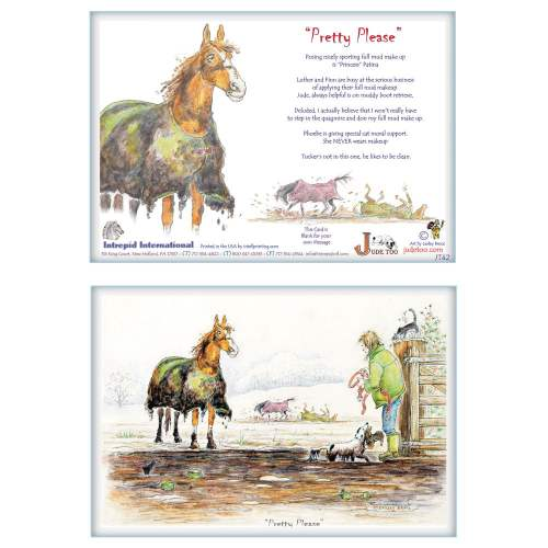 Jude Too Greeting Cards - Horses - Pretty Please - 6 pack