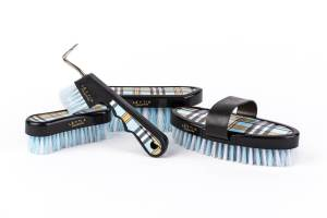Lettia Plaid Brush Set Blue