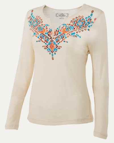 Noble Outfitters Free Spirit Henley Shirt Cream