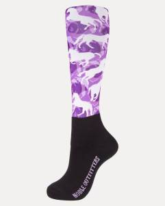 Noble Outfitters Printed Peddies Purple Horses