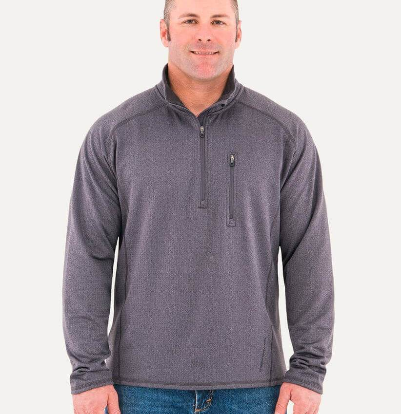Noble Outfitters Men's Zip Mock Shirt
