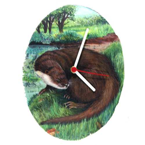 River Otter Oval Clock
