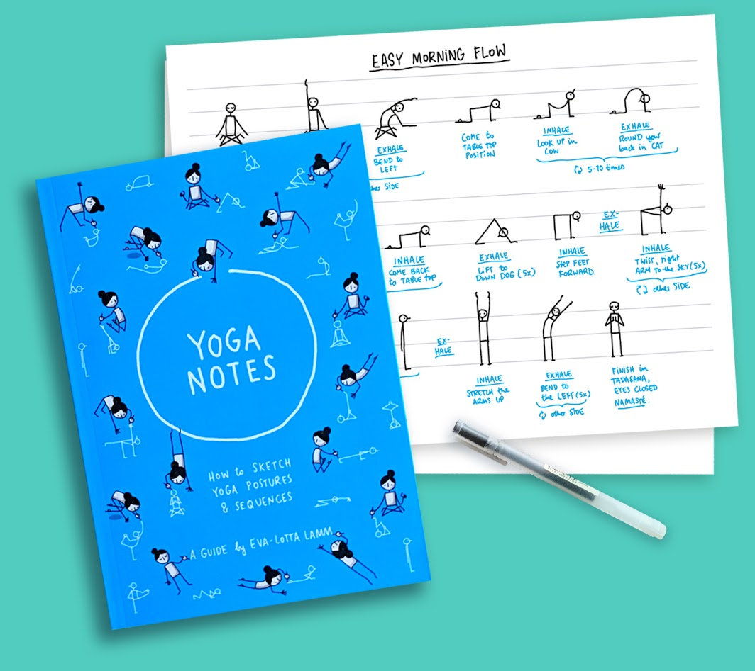 Sketching Yoga Sequences - Yoga Notes Artwork