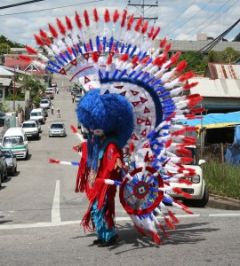 Red and Blue Bustle Dancer