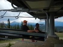 Lauren and Kenin on Ski Lift 2