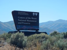 Entrance to Craters of the Moon National Park, Idaho