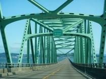 Entering Oregon on Bridge