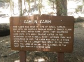 Giant Sequoia National Forest Gamlin Cabin Sign