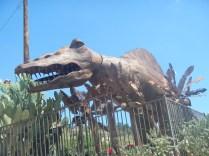 Metal Dino Sculpture