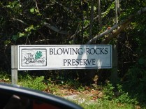 Blowing Rocks Sign